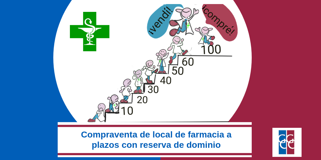 Compraventa local farmacia a plazos con reserva dominio